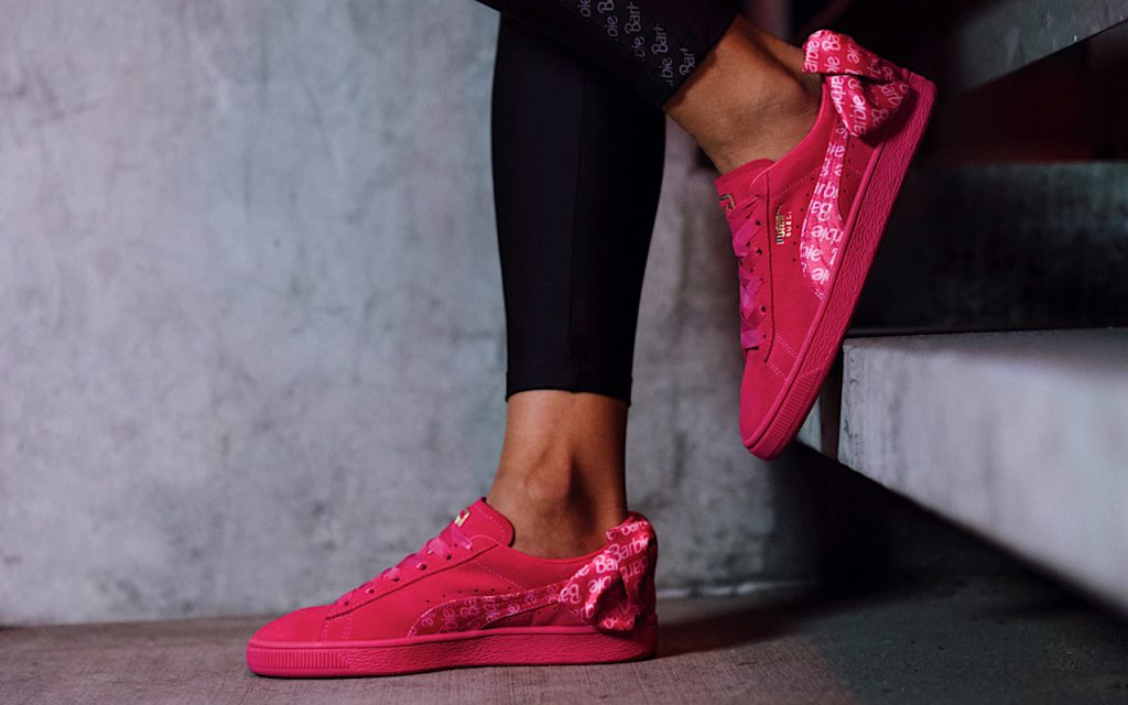 Puma suede 50 x barbie sneakers rosa